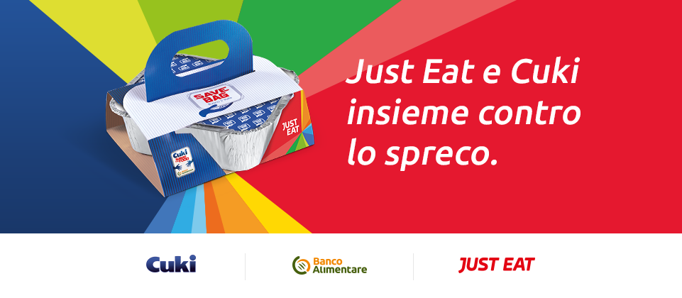 Cuki e Just Eat per Banco Alimentare